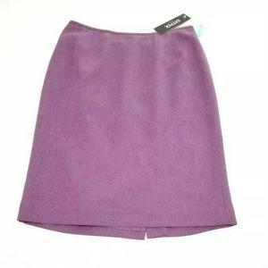 Kasper Back Slit Zip Career Skirt Lavender Purple